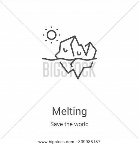 melting icon isolated on white background from save the world collection. melting icon trendy and mo