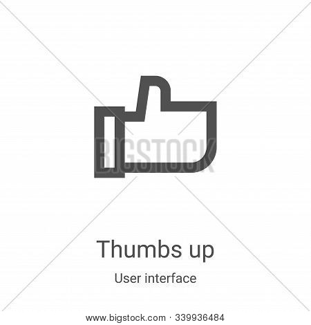 thumbs up icon isolated on white background from user interface collection. thumbs up icon trendy an