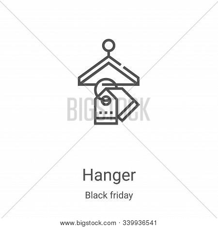 hanger icon isolated on white background from black friday collection. hanger icon trendy and modern