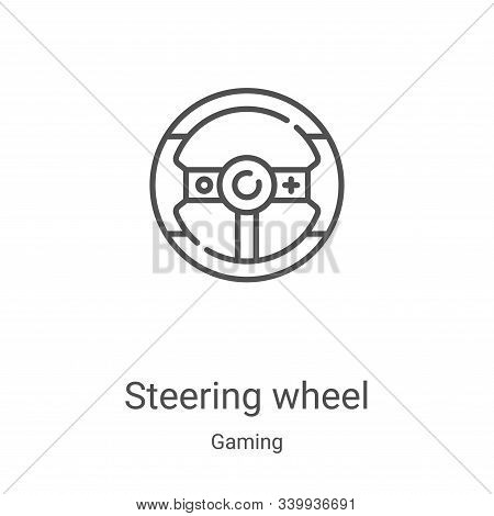 steering wheel icon isolated on white background from gaming collection. steering wheel icon trendy