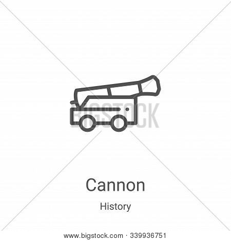 cannon icon isolated on white background from history collection. cannon icon trendy and modern cann