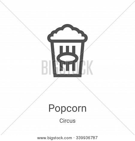 popcorn icon isolated on white background from circus collection. popcorn icon trendy and modern pop