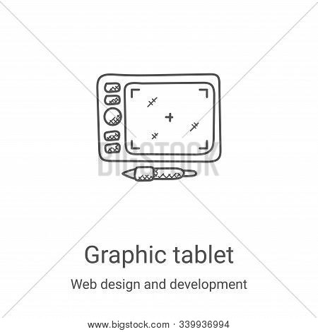 graphic tablet icon isolated on white background from web design and development collection. graphic