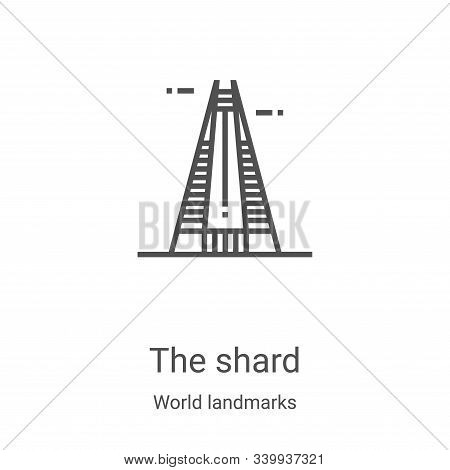 the shard icon isolated on white background from world landmarks collection. the shard icon trendy a