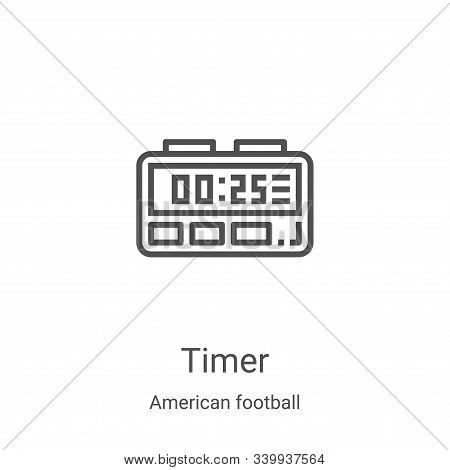 timer icon isolated on white background from american football collection. timer icon trendy and mod