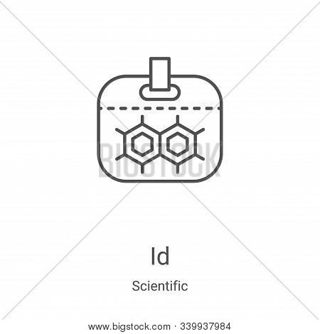 ID icon isolated on white background from scientific collection. ID icon trendy and modern ID symbol