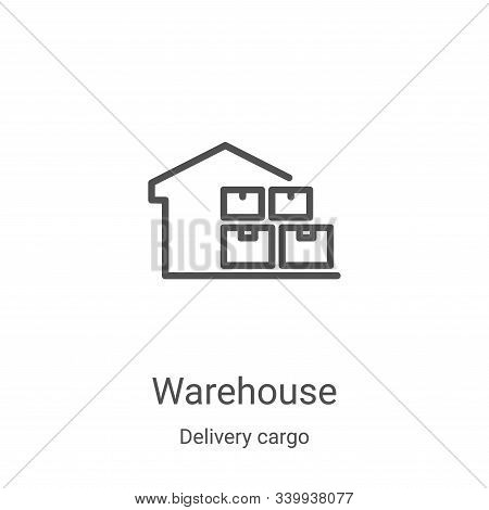 warehouse icon isolated on white background from delivery cargo collection. warehouse icon trendy an