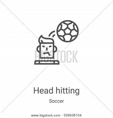 head hitting icon isolated on white background from soccer collection. head hitting icon trendy and