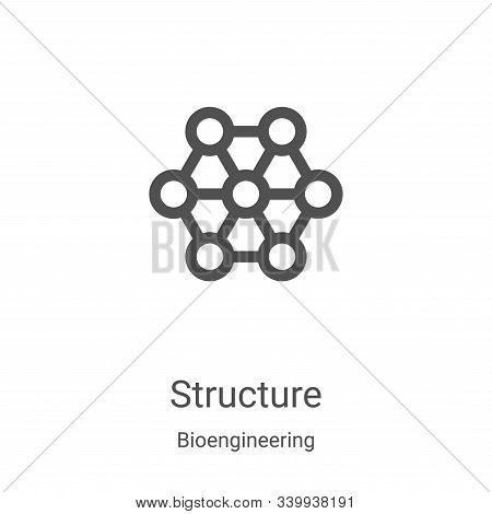 structure icon isolated on white background from bioengineering collection. structure icon trendy an