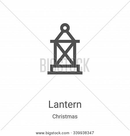 lantern icon isolated on white background from christmas collection. lantern icon trendy and modern