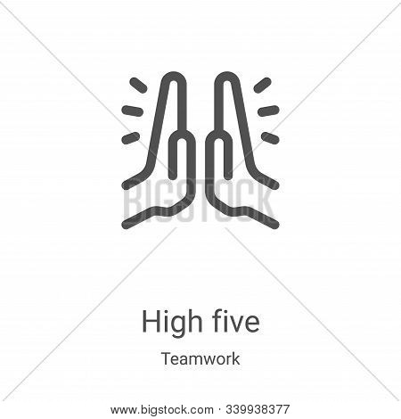 high five icon isolated on white background from teamwork collection. high five icon trendy and mode
