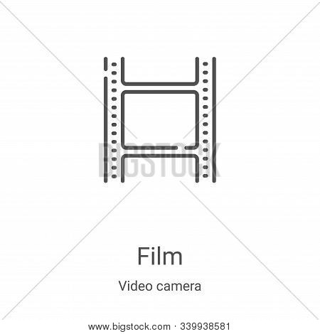 film icon isolated on white background from video camera collection. film icon trendy and modern fil