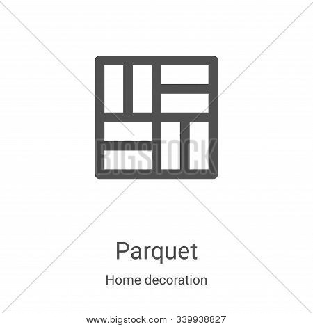 parquet icon isolated on white background from home decoration collection. parquet icon trendy and m