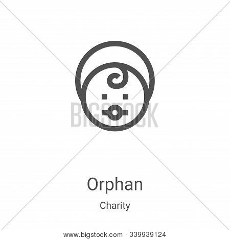 orphan icon isolated on white background from charity collection. orphan icon trendy and modern orph