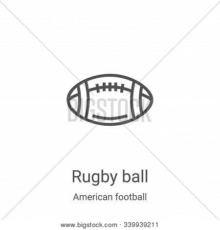 rugby ball icon isolated on white background from american football collection. rugby ball icon tren