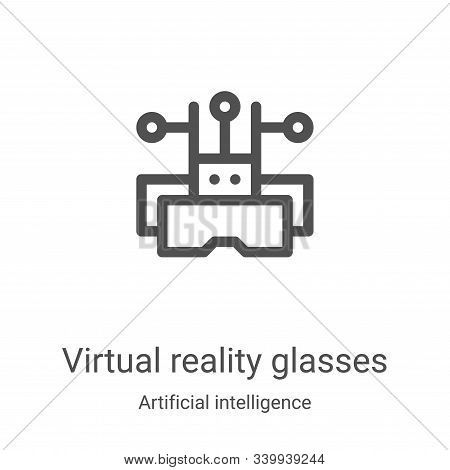 virtual reality glasses icon isolated on white background from artificial intelligence collection. v