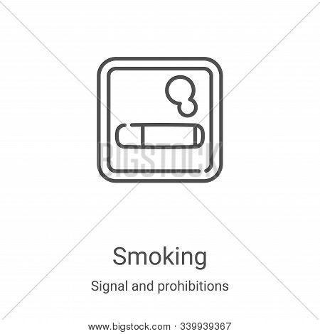 smoking icon isolated on white background from signal and prohibitions collection. smoking icon tren