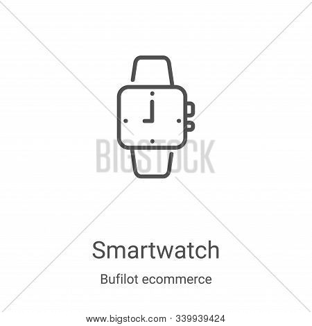 smartwatch icon isolated on white background from bufilot ecommerce collection. smartwatch icon tren