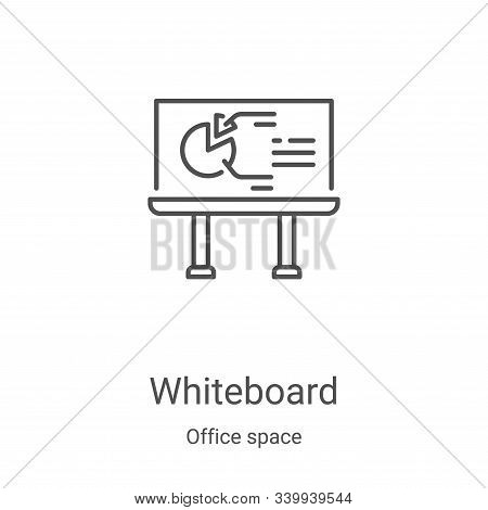 whiteboard icon isolated on white background from office space collection. whiteboard icon trendy an