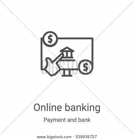 online banking icon isolated on white background from payment and bank collection. online banking ic