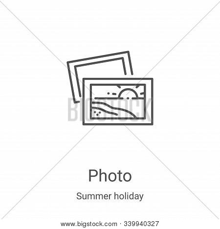 photo icon isolated on white background from summer holiday collection. photo icon trendy and modern