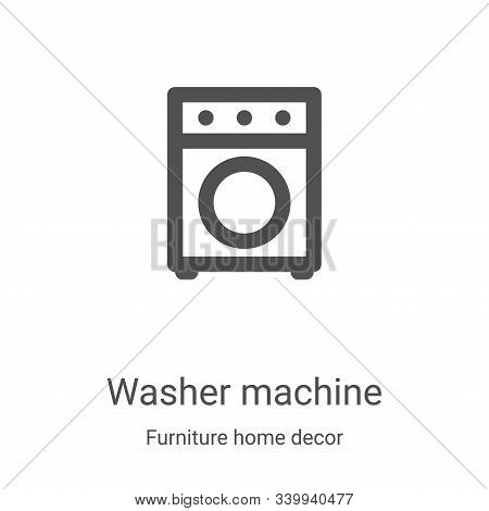 washer machine icon isolated on white background from furniture home decor collection. washer machin