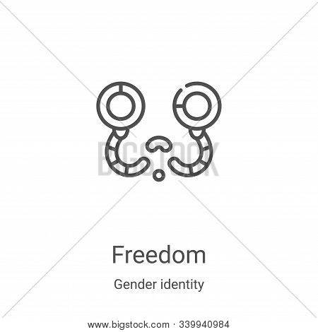 freedom icon isolated on white background from gender identity collection. freedom icon trendy and m