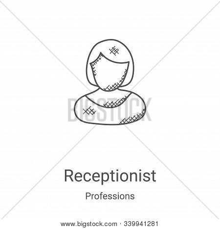 receptionist icon isolated on white background from professions collection. receptionist icon trendy