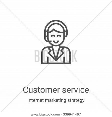 customer service icon isolated on white background from internet marketing strategy collection. cust