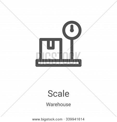 scale icon isolated on white background from warehouse collection. scale icon trendy and modern scal