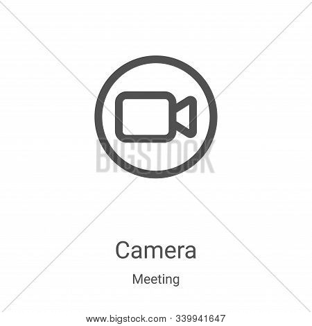 camera icon isolated on white background from meeting collection. camera icon trendy and modern came