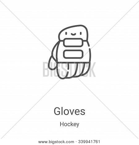 gloves icon isolated on white background from hockey collection. gloves icon trendy and modern glove