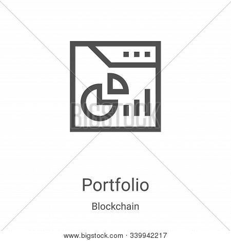 portfolio icon isolated on white background from blockchain collection. portfolio icon trendy and mo