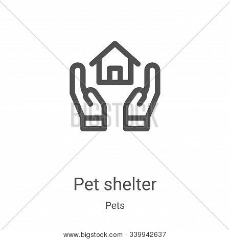 pet shelter icon isolated on white background from pets collection. pet shelter icon trendy and mode