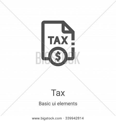 tax icon isolated on white background from basic ui elements collection. tax icon trendy and modern