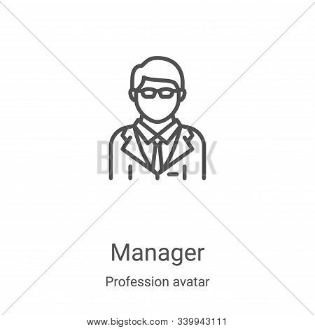 manager icon isolated on white background from profession avatar collection. manager icon trendy and