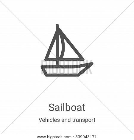 sailboat icon isolated on white background from vehicles and transport collection. sailboat icon tre