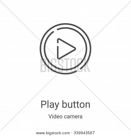 play button icon isolated on white background from video camera collection. play button icon trendy