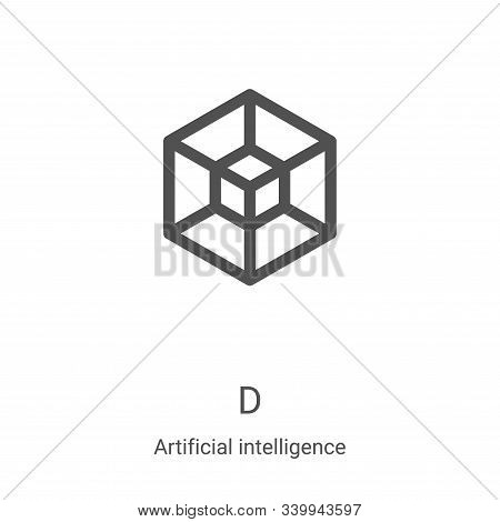 d icon isolated on white background from artificial intelligence collection. d icon trendy and moder