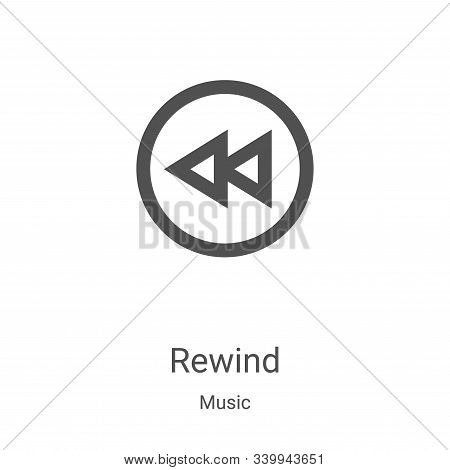rewind icon isolated on white background from music collection. rewind icon trendy and modern rewind