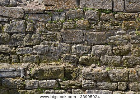 Old Stone Wall, May Be Used As Background