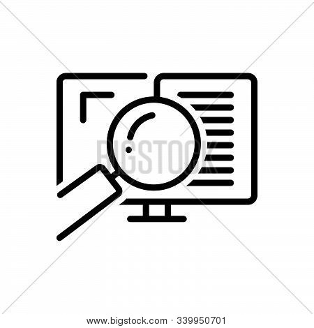 Black Line Icon For Auditing  Auditor Search Document Verification