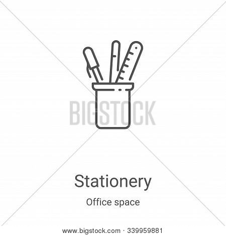 stationery icon isolated on white background from office space collection. stationery icon trendy an