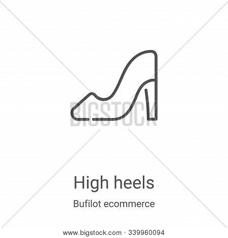 high heels icon isolated on white background from bufilot ecommerce collection. high heels icon tren