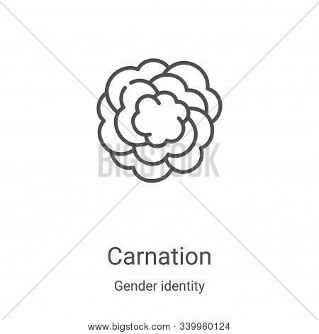 carnation icon isolated on white background from gender identity collection. carnation icon trendy a