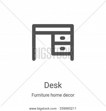 desk icon isolated on white background from furniture home decor collection. desk icon trendy and mo