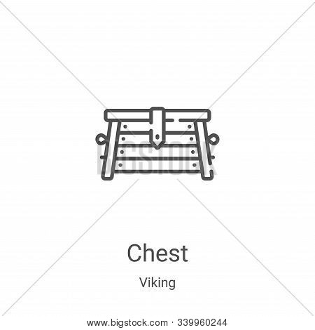 chest icon isolated on white background from viking collection. chest icon trendy and modern chest s