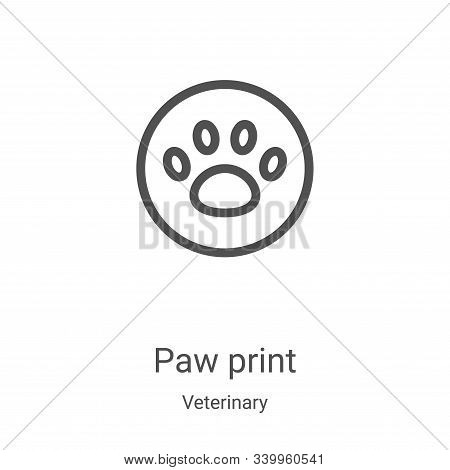 paw print icon isolated on white background from veterinary collection. paw print icon trendy and mo