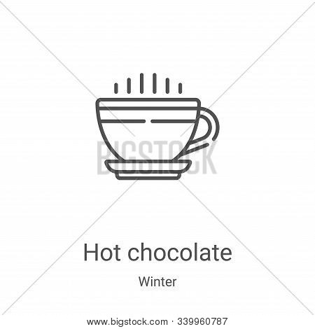 hot chocolate icon isolated on white background from winter collection. hot chocolate icon trendy an
