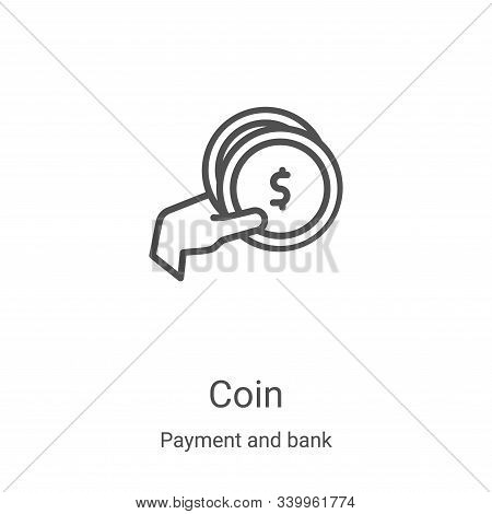 coin icon isolated on white background from payment and bank collection. coin icon trendy and modern